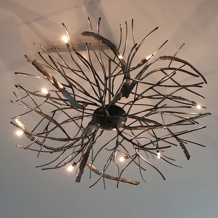 Ruimtelijke Design Plafondlamp, wirwar van grijs blank ijzer