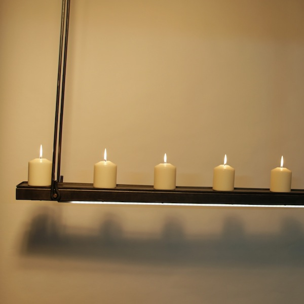 Hanglamp met kaarsen, een fraai design, exclusief en landelijk