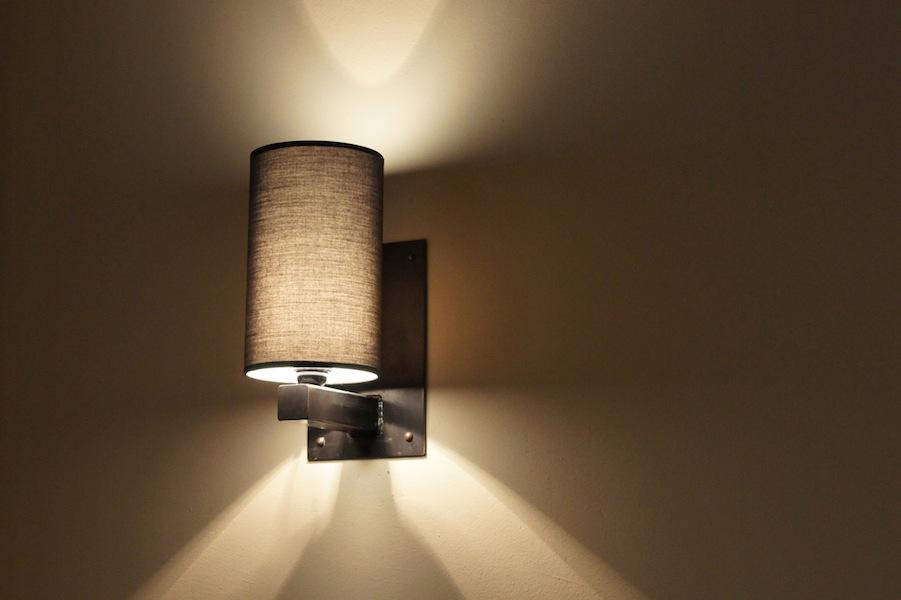 Design wandlamp handgemaakt smeedijzer lampenkap for Landelijke lampen