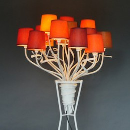 lamp bos bloemen