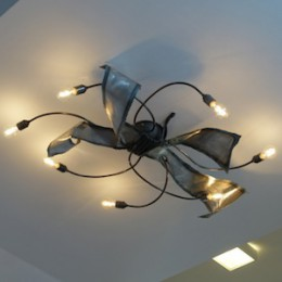 plafondlamp blade ijzer