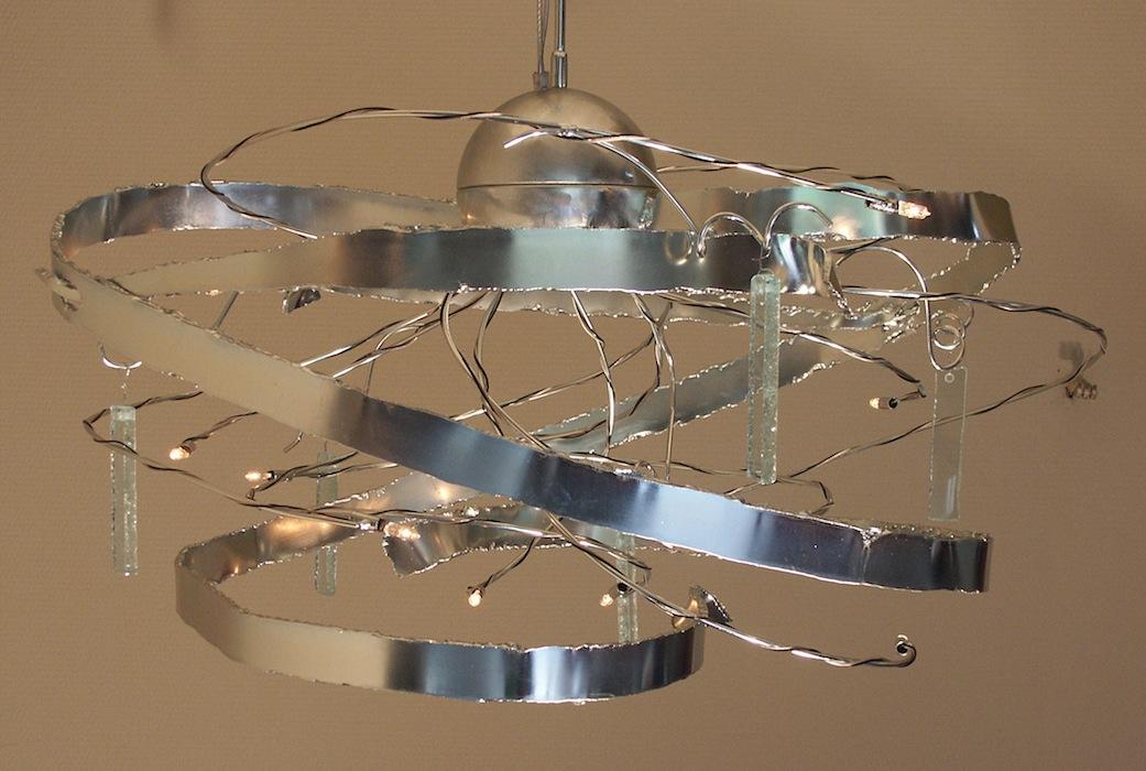 Kroonluchter Krulvormig Met Kristal Pegels