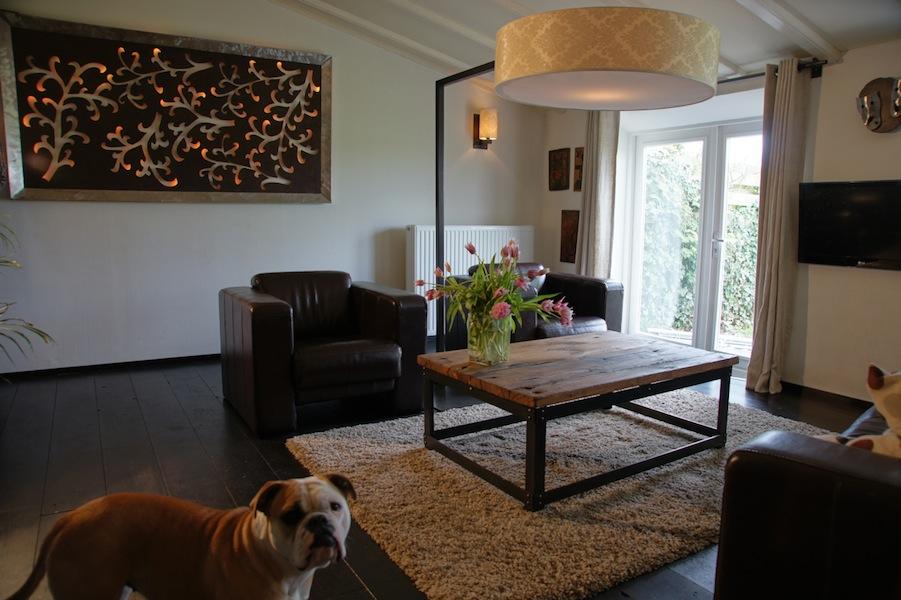 Eiken salonstafels op maat voor landelijk woonkamer of serre