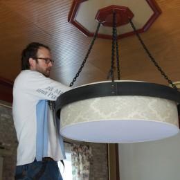 smeedijzer lamp