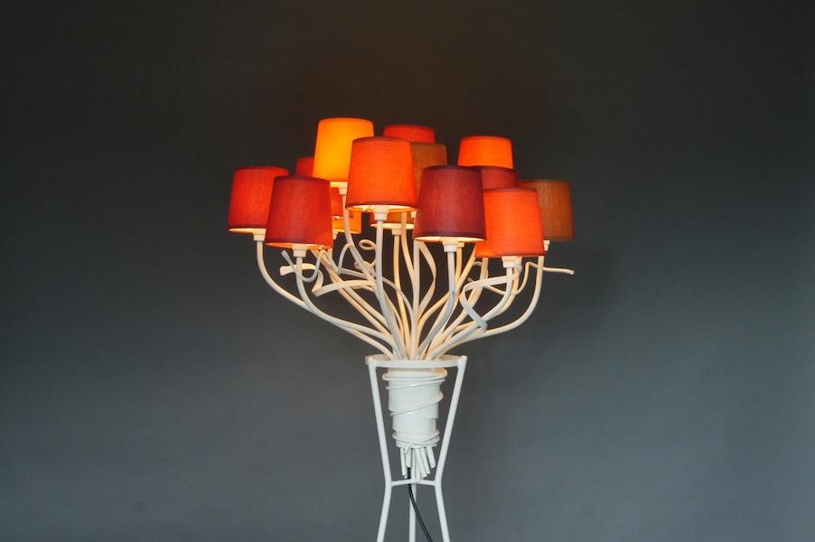 Staande Lamp Landelijk : Landelijke exclusieve staande lamp in de vorm van een bos bloemen