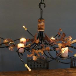 hanglamp kaarsen eettafel