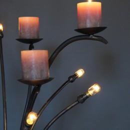 kandelaar lamp kaarsen