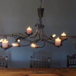 hanglamp kaarsen