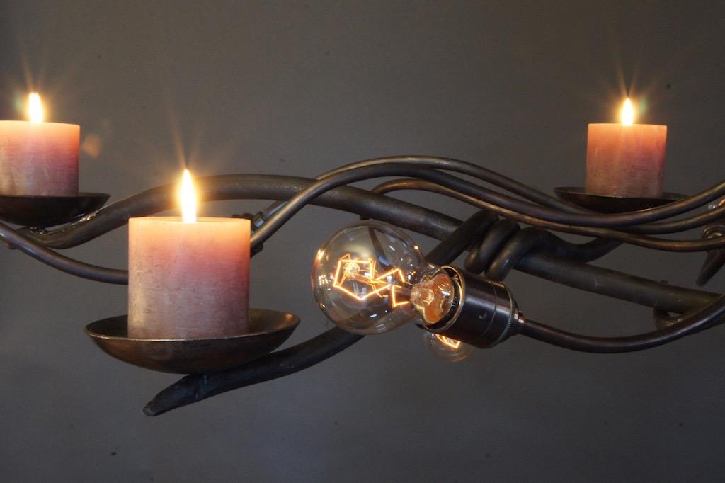 Kroonluchter Voor Waxinelichtjes.Kroonluchter Hanglamp Met Kaarsen Landelijk
