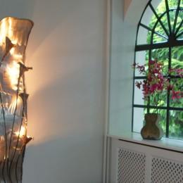 koloniale wandlamp interieur